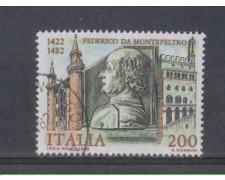 1982 - LOTTO/6770U - REPUBBLICA - FEDER. DA MONTEFELTRO - USATO