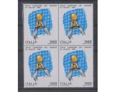 1982 - LOTTO/6771Q - REPUBBLICA - MONDIALI CALCIO - QUARTINA