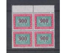 1984 - LOTTO/6822Q - REPUBBLICA - 900 LIRE SEGNATASSE - QUARTINA