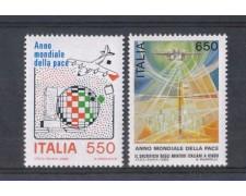 1986 - LOTTO/6865 - REPUBBLICA - ANNO DELLA PACE 2v. NUOVI