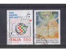 1986 - LOTTO/6865U - REPUBBLICA - ANNO DELLA PACE - USATI