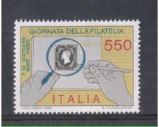 1986 - LOTTO/6866 - REPUBBLICA - GIORNATA DELLA FILATELIA