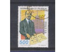1987 - LOTTO/6884U - REPUBBLICA - GIORNATA  FILATELIA - USATO