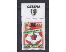 1988 - LOTTO/6897 - REPUBBLICA - MILAN CAMPIONE