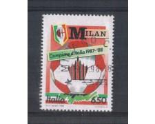 1988 - LOTTO/6897U - REPUBBLICA - MILAN CAMPIONE - USATO