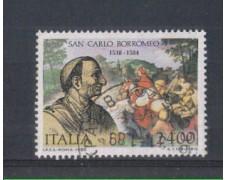 1988 - LOTTO/6909U - REPUBBLICA - S. CARLO BORROMEO - USATO