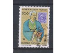 1988 - LOTTO/6911U - REPUBBLICA - GIORN. FILATELIA - USATO