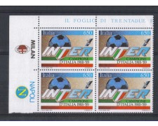 1989 - LOTTO/6924Q - REPUBBLICA - INTER CAMPIONE - QUARTINA +2AP