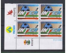 1989 - LOTTO/6924QA - REPUBBLICA - INTER CAMPIONE - QUARTINA + 3