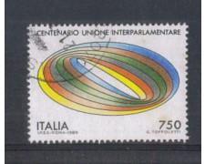 1989 - LOTTO/6925U - REPUBBLICA - UNIONE INTERPARL. USATO
