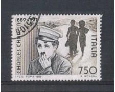 1989 - LOTTO/6928U - REPUBBLICA - CHARLIE CHAPLIN - USATO