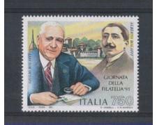 1991 - LOTTO/6974 - REPUBBLICA - GIORNATA FILATELIA