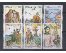 1992 - LOTTO/6997 - REPUBBLICA - CELEBRAZIONI COLOMBIANE 6v.