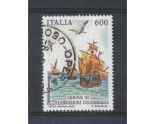 1992 - LOTTO/6997BU - REPUBBLICA - 600 L. GENOVA 92 - USATO