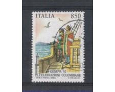 1992 - LOTTO/6997DU - REPUBBLICA - 850 L. GENOVA 92 - USATO