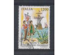 1992 - LOTTO/6997EU - REPUBBLICA - 1200 L. GENOVA 92 - USATO