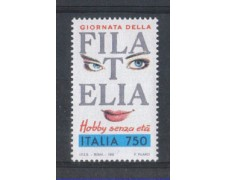 1992 - LOTTO/6998 - REPUBBLICA - GIORNATA FILATELIA