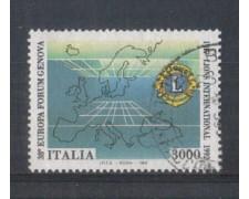 1992 - LOTTO/7000U - REPUBBLICA - LIONS CLUB - USATO