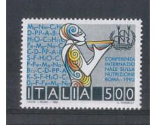 1992 - LOTTO/7002 - REPUBBLICA - NUTRIZIONE - NUOVO