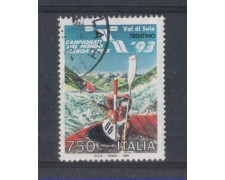1993 - LOTTO/7019U - REPUBBLICA - CAMPIONATI DI CANOA - USATO