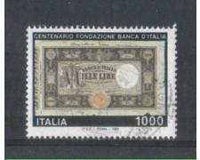1993 - LOTTO/7024BU - REPUBBLICA - 1000 L. BANCA D'ITALIA - USAT