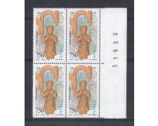 1994 - LOTTO/7052Q - REPUBBLICA - FEDERICO II° - QUARTINA  NUOVI