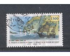 1997 - LOTTO/7158U - REPUBBLICA - GIOVANNI CABOTO - USATO