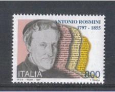 1997 - LOTTO/7163 - REPUBBLICA - ANTONIO ROSMINI