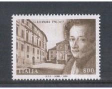 1998 - LOTTO/7199 - REPUBBLICA - GIACOMO LEOPARDI