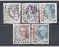 1998 - LOTTO/7200U - REPUBBLICA - DONNE NELL'ARTE - USATI