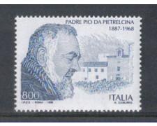 1998 - LOTTO/7205 - REPUBBLICA -  PADRE PIO