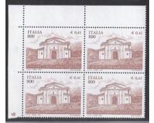 1999 - LOTTO/7224Q - REPUBBLICA - CHIESA DI S. EGIDIO - QUARTINA