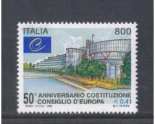 1999 - LOTTO/7231 - REPUBBLICA - CONSIGLIO D'EUROPA