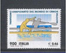 1999 - LOTTO/7239 - REPUBBLICA - CAMPIONATI DI CANOA - NUOVO