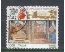 2001 - LOTTO/7305U - REPUBBLICA - ITALIA IN GIAPPONE - USATO