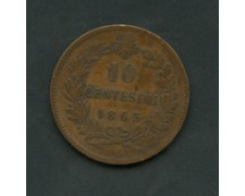 1863 - LOTTO/M16072 - REGNO - 10 CENT. VITTORIO EMANUELE II°