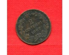 1867 M - LOTTO/M22567 - REGNO - 2 CENTESIMI  VITT. EMANUELE II°