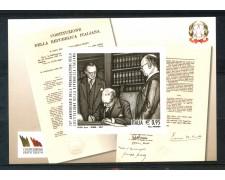 2017 - ITALIA REPUBBLICA - ANNIVERSARIO DELLA COSTITUZIONE - FOGLIETTO NUOVO - LOTTO/30753
