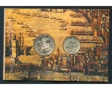 1989 - REPUBBLICA - SCOPERTA DELL'AMERICA 200/500 LIRE ARGENTO - LOTTO/M28949