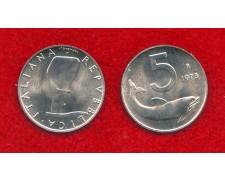 1973 - REPUBBLICA - 5 LIRE  DELFINO - FIOR DI CONIO - LOTTO/M29158