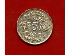 AH1353 (1934) - TUNISIA - 5 FRANCHI ARGENTO - LOTTO/M31189