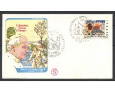 1980 - REPUBBLICA - BUSTA - VISITA DI PAPA GIOVANNI PAOLO II°  A NORCIA - LOTTO/31746