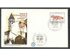 1980 - CITTA' DEL VATICANO - BUSTA - PARTENZA DEL PAPA PER LE ZONE TERREMOTATE - LOTTO/31750