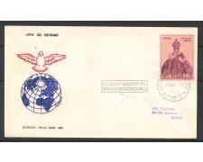 1969 - VATICANO - GIORNATA DELLA PACE - BUSTA CON ANNULLO SPECIALE A TARGHETTA - LOTTO/31757