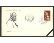 1963 - VATICANO - BUSTA CON ANNULLO DEL GIORNO DELLA MORTE DI S.S. GIOVANNI XXIII° - LOTTO/31760