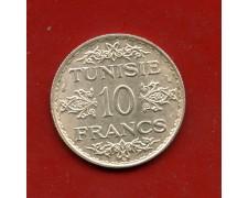 AH1353 (1934) - TUNISIA - 10 FRANCHI ARGENTO - LOTTO/M31187