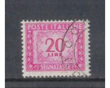 1947/54 - LOTTO/7820U - REPUBBLICA - 20 LIRE SEGNATASSE - USATO