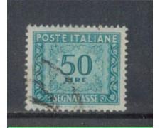 1947/54 - LOTTO/7822U - REPUBBLICA - 50 LIRE SEGNATASSE - USATO