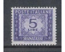 1955/66 - LOTTO/7825 - REPUBBLICA - 5 LIRE SEGNATASSE