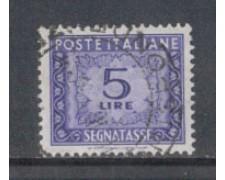 1955/66 -  LOTTO/7825U - REPUBBLICA - 5 LIRE SEGNATASSE - USATO